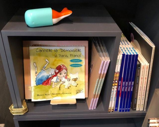 Childrens books on display in store.
